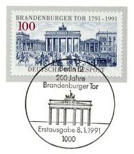 BRD 1991: Brandenburger Tor Nr. 1492 mit dem Berliner Ersttags-Sonderstempel! 1A