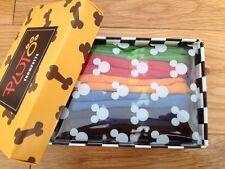 Disney TRUMPETTE Pluto Dog Designer Baby Socks 0-12Mths X 6 PAIRS NEW + GIFT BOX