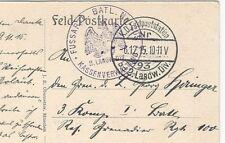 25/124 AK RUSSLAND ROTES KREUZ sign.  - STEMPEL KASSENVERWALTUNG 1915