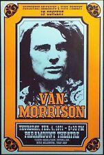 Van Morrison 1971 - Concert VINTAGE BAND POSTERS Rock Travel Old Advert #ob