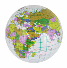 Inflatable Globe Map Ball World Earth Geography Blow up Educational Toy