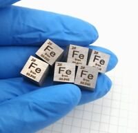 1 Piece 99.99% Pure Iron Ferrum Fe Carved Element Periodic Table 10mm Cube