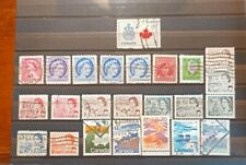 Francobolli usati Canada  amministrazione Britannica.
