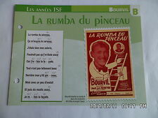 CARTE FICHE PLAISIR DE CHANTER BOURVIL LA RUMBA DU PINCEAU