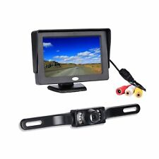 Backup Camera and Monitor Kit, Chuanganzhuo License Plate CMOS Wide Angle Bac...