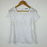 Kookai Womens Top Size 36 (AU 6) White Short Sleeve Good Condition