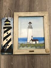 Lighthouse Wall Decor:  Set Of 2