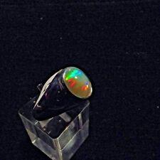 Ring, Gr.58  Silber 925 mit einem Opal Cabochon aus Äthiopien