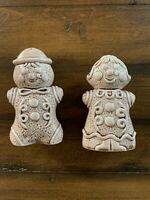 Pair of Vintage Ceramic Ginger Bread Man & Woman Salt and Pepper Shakers