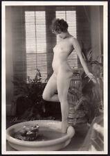 ALBERT ARTHUR ALLEN leggy nude at bath 1928 ORIG PHOTO 7x10 DBW