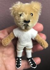 Vintage 1960s Miniature Schuco Mascott Teddy Bear Footballer Hegi Bendable NICE!