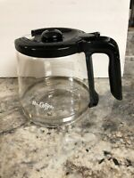 Mr. Coffee 12-Cup Replacement Decanter Carafe Pot Black for coffee maker B6