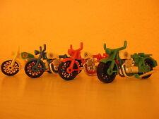 Playmobil 1974 Motorräder - Bike Oldtimer - seltenes 4er Set Klicky 70er Jahre!