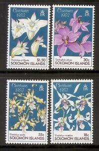 Solomon Islands SC # 598-601 Orchids . MNH