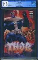 Thor 6 (Marvel) CGC 9.8 White Pages 2nd Print Klein Wraparound Variant Cover