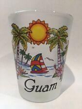 GUAM US PACIFIC TERRITORY BEACH PARADISE SHOT GLASS SHOTGLASS