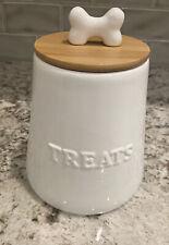 New listing Winifred & Lily Treat Jar - Ceramic - Cute - White - Bone Lid