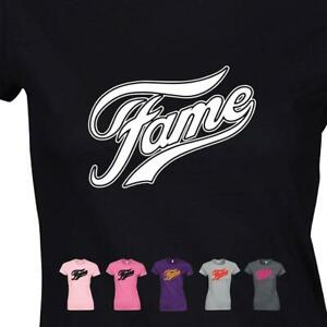 Fame Ladies T-shirt Retro 80's Inspired Grease Musical Modern Fit Girls Tee Top