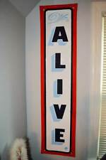 AUTHENTIC ALIVE SIDESHOW BANNER HAND PAINTED,GAFF
