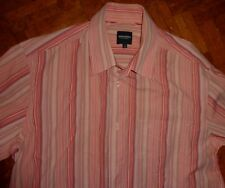Mode :Chemise DOCKERS LEVIS STRAUSS L 42 44 saumon rayures