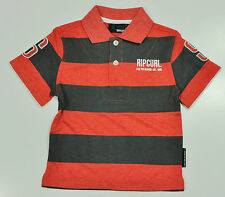 "Boys ""Rip Curl"" Red Stripe POLO with Logo T-shirt  top === ONLY Sz  2T === NWOT"