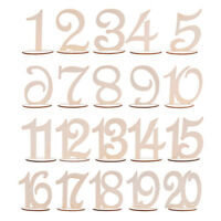 1-10/11-20 Wooden Table Numbers Set with Base Birthday Wedding Party Decor Hot
