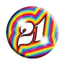 Amscan I AM 21 Today Happy 21st Birthday Badge Unisex Girls Boys 61mm Diameter