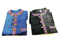 Bhutani Handmade Nepal Cotton Shirt Festival Kurta hippie summer unisex shirt