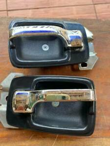 DATSUN 620 Pickup HANDLE DOOR INNER WITH ESCUTCHEON New LH+RH