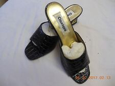 "Black 3"" high heels very modern  sandals by ""Clasique"" size 8 M"