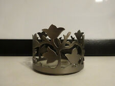 Bath and Body Works Mini Candle Holder Brushed Silver Leaves