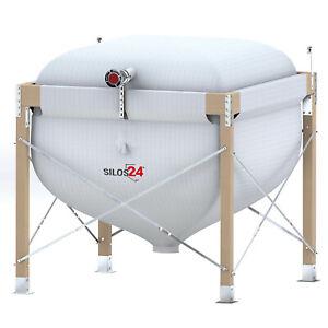 Pelletsilo mit Holzgestell silos24, modernes Gewebesilo, Fertiglager Pelletlager