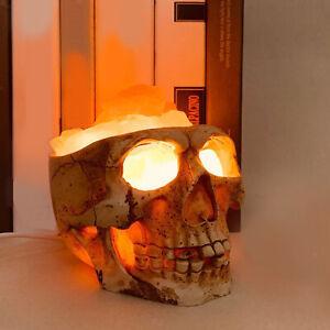 Creative 3D Skull Lamp Himalayan Slat Nightlight Yoga Studio Lights Ornament