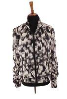 Calvin Klein Womens Performance Jacket Ruched Quick Dry Packable Black Sz Medium
