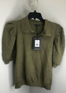 Who What Wear Green Puff Half Sleeve Sweater Womens Size XXL