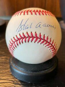 Hank Aaron Autographed baseball with COA, NO TONING!
