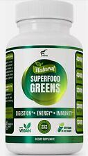 FOLONA 100% Natural Superfood Greens Digestion Energy Immunity - 120 Caps -03/23