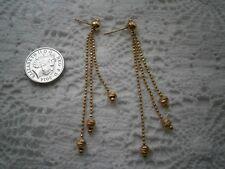 Beautiful Ornate Handmade 14k Gold Chandelier Earrings, for pierced ears :)