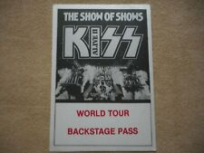 "KISS ""ALIVE II 1977"" ORIGINAL SATIN BACKSTAGE PASS"
