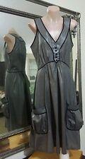 Gorman Dress.SzXS. Vintage /retro.100% Hi sheen cotton.Fit & flare.As new cond.