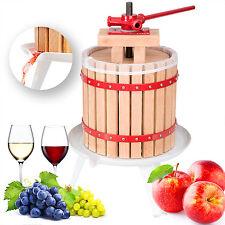 Fruit Press Wine Press Apple Cider Press Fruit Crusher Manual Juice Homemade 12L