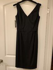PIAZZA SEMPIONE SHEATH SLEEVELESS BLACK DRESS SIZE 40 Italy.  Brand New.