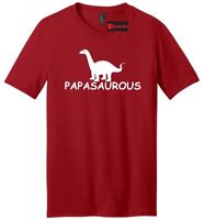 Papasaurous Mens V-Neck T Shirt Funny Dad Gift Fathers Day Father Dinosaur Tee