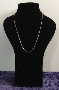 Womens 9ct / 9 Carat / 9K / 9 Karat Yellow Gold 375 Chain - 4.77g