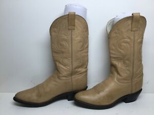 WOMENS RED LODGE COWBOY YELLOW BROWN BOOTS SZIE 8.5