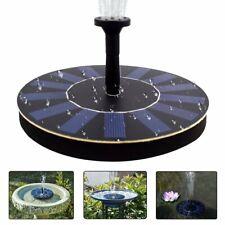 Outdoor Solar Powered Bird Bath Water Fountain Pump Pool Garden 4 Sprinklers US