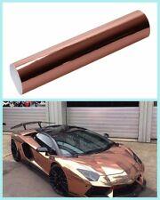 Rose Gold stretchable Chrome vinyl Car Wrap Film Car Decoration 60''x20''