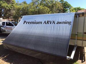 Premium ARVA awning Vinyl replacement 9' Vinyl 10' Frame. Caravan RollOut Awning