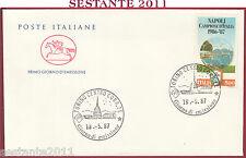ITALIA FDC CAVALLINO NAPOLI CAMPIONE D'ITALIA 1987 ANNULLO TORINO Y149