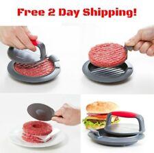 3Pcs Burger Press Hamburger Meat Patty Maker Grill BBQ Non Stick Kitchen Mold